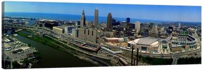 Cleveland Ohio aerial Canvas Art Print