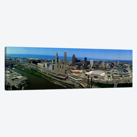 Cleveland Ohio aerial Canvas Print #PIM521} by Panoramic Images Art Print