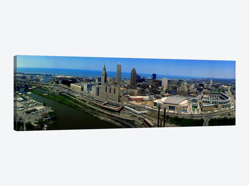 Cleveland Ohio aerial by Panoramic Images 1-piece Canvas Art Print