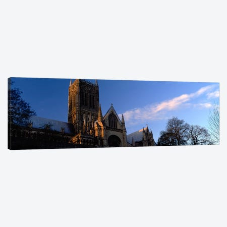 High Section View of A CathedralLincoln Cathedral, Lincolnshire, England, United Kingdom Canvas Print #PIM5225} by Panoramic Images Art Print