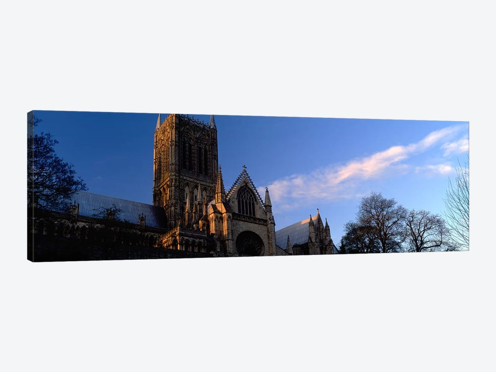 High Section View of A CathedralLincoln Cathedral, Lincolnshire, England, United Kingdom by Panoramic Images 1-piece Canvas Artwork