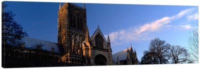 High Section View of A CathedralLincoln Cathedral, Lincolnshire, England, United Kingdom Canvas Art Print