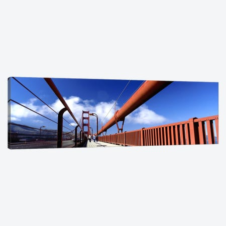 Tourist Walking on A BridgeGolden Gate Bridge, San Francisco, California, USA Canvas Print #PIM5228} by Panoramic Images Canvas Artwork