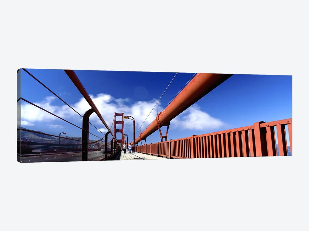Tourist Walking on A BridgeGolden Gate Bridge, San Francisco, California, USA by Panoramic Images 1-piece Canvas Print