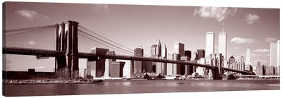 Brooklyn Bridge, Hudson River, NYC, New York City, New York State, USA Canvas Art Print