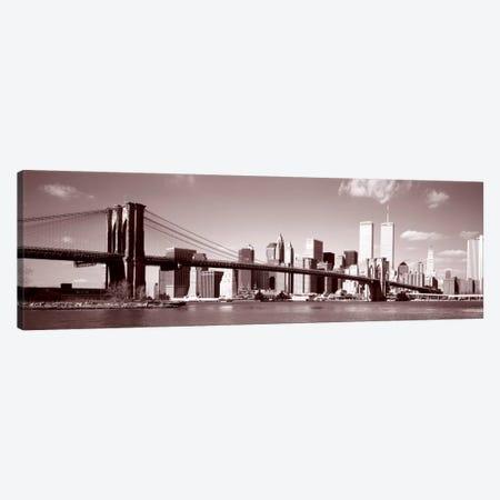 Brooklyn Bridge, East River, NYC, New York City, New York State, USA Canvas Print #PIM522} by Panoramic Images Art Print