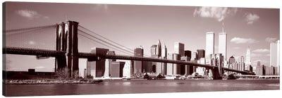 Brooklyn Bridge, East River, NYC, New York City, New York State, USA Canvas Art Print
