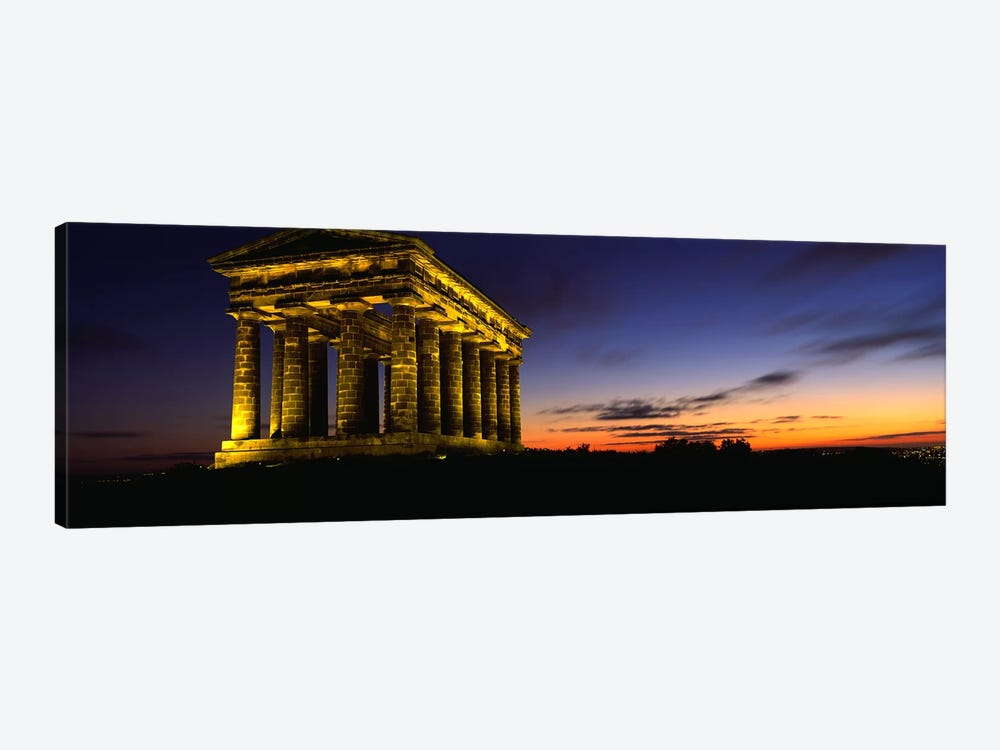 Monument Lit Up At DuskPenshaw Monument, London, England, United Kingdom by Panoramic Images 1-piece Canvas Wall Art