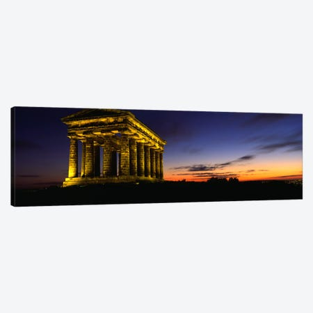 Monument Lit Up At DuskPenshaw Monument, London, England, United Kingdom Canvas Print #PIM5230} by Panoramic Images Art Print