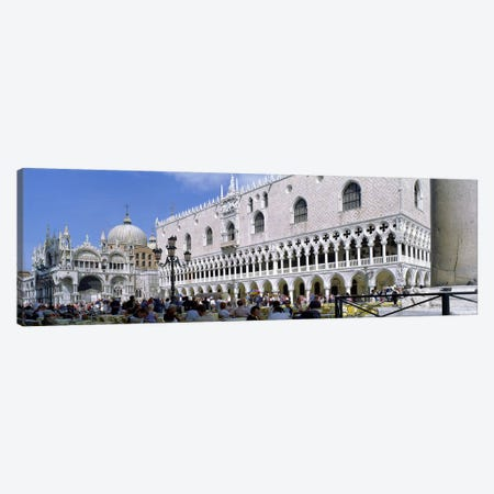 Tourist Outside A CathedralSt. Mark's Cathedral, St. Mark's Square, Venice, Italy Canvas Print #PIM5231} by Panoramic Images Canvas Print