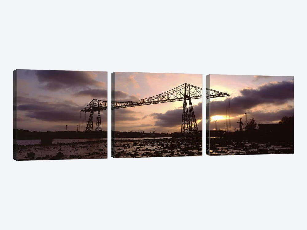 Tees Transporter Bridge, North Yorkshire, England, United Kingdom 3-piece Canvas Wall Art