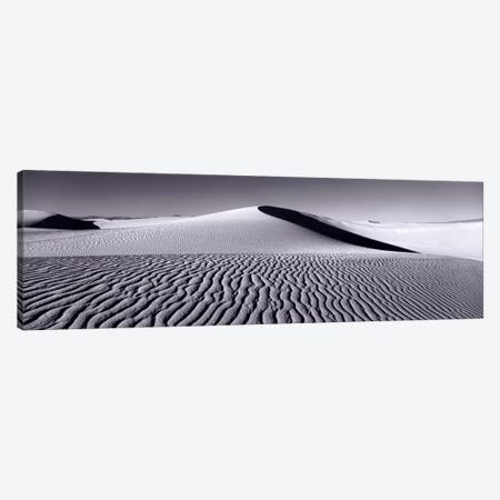 Dunes In B&W, White Sands National Monument, New Mexico, USA Canvas Print #PIM523} by Panoramic Images Art Print