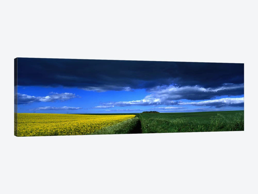 Cloudy Countryside Landscape, Yorkshire Wolds, North Yorkshire, England, United Kingdom by Panoramic Images 1-piece Canvas Art Print