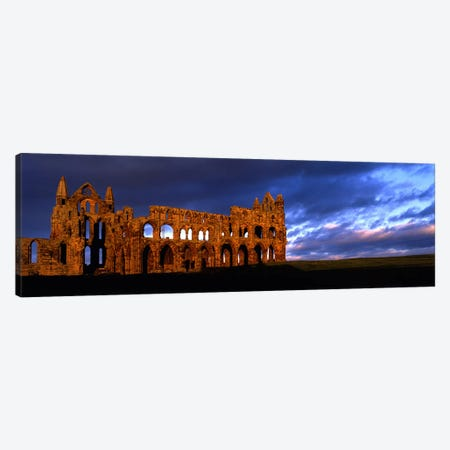 Ruins of A ChurchWhitby Abbey, Whitby, North Yorkshire, England, United Kingdom Canvas Print #PIM5246} by Panoramic Images Art Print