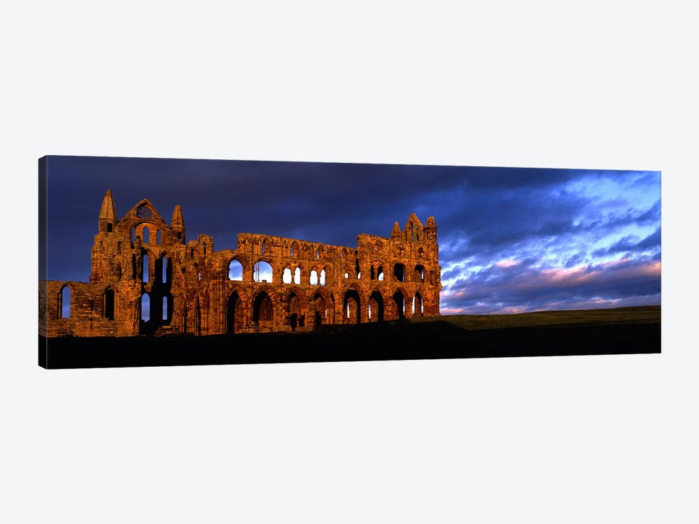 Ruins of A ChurchWhitby Abbey, Whitby, North Yorkshire, England, United Kingdom by Panoramic Images 1-piece Canvas Print