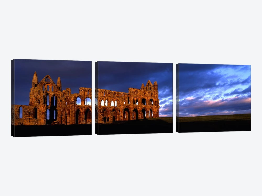 Ruins of A ChurchWhitby Abbey, Whitby, North Yorkshire, England, United Kingdom by Panoramic Images 3-piece Art Print