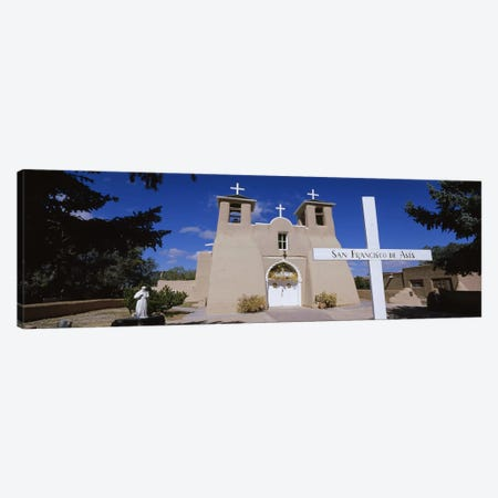 Cross in front of a church, San Francisco de Asis Church, Ranchos De Taos, New Mexico, USA Canvas Print #PIM5248} by Panoramic Images Canvas Art