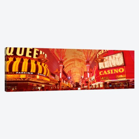 Fremont St Experience, Las Vegas, NV Canvas Print #PIM524} by Panoramic Images Canvas Art