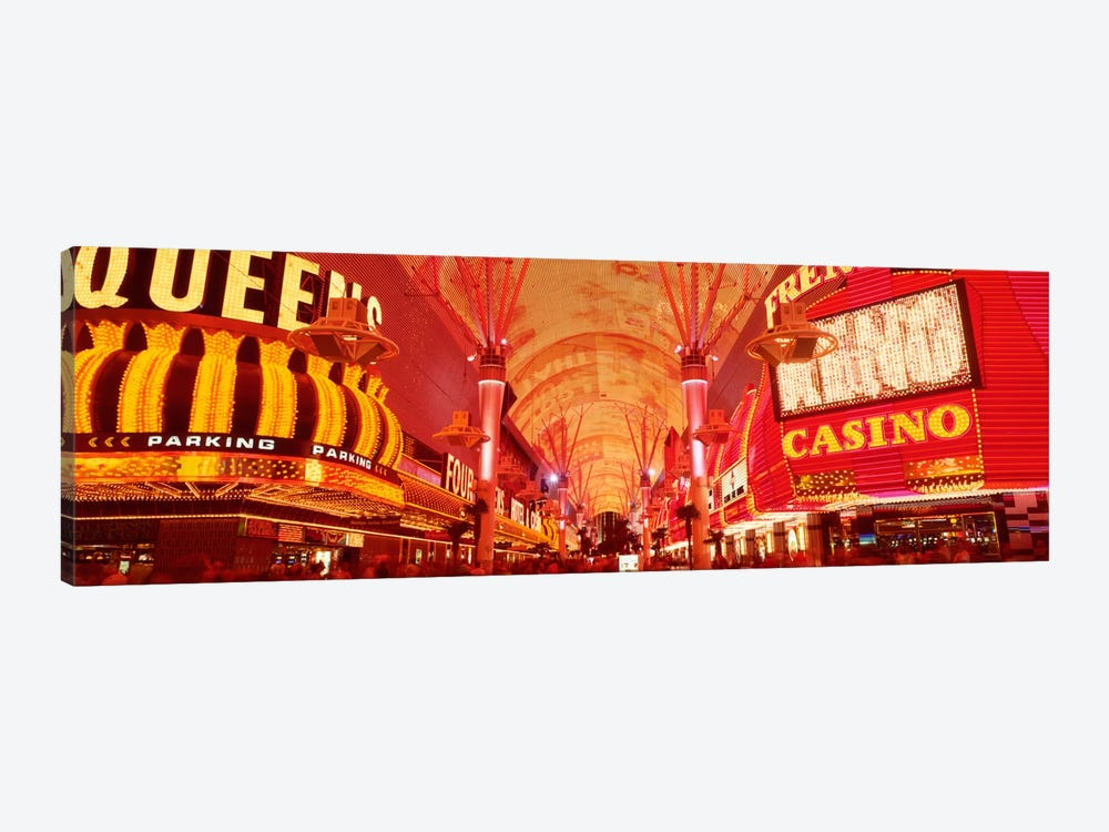 Fremont St Experience, Las Vegas, NV by Panoramic Images 1-piece Canvas Artwork