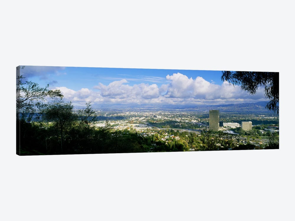 High angle view of a city, Studio City, San Fernando Valley, Los Angeles, California, USA by Panoramic Images 1-piece Canvas Print