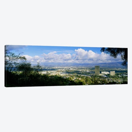 High angle view of a city, Studio City, San Fernando Valley, Los Angeles, California, USA Canvas Print #PIM5251} by Panoramic Images Art Print