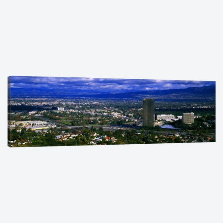 High angle view of a city, Studio City, San Fernando Valley, Los Angeles, California, USA #2 Canvas Print #PIM5252} by Panoramic Images Art Print