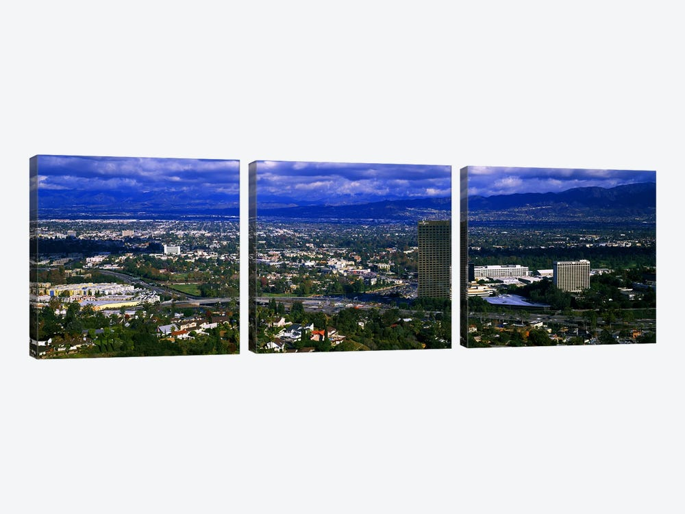 High angle view of a city, Studio City, San Fernando Valley, Los Angeles, California, USA #2 by Panoramic Images 3-piece Canvas Wall Art