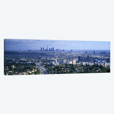 Aerial view of a city, Los Angeles, California, USA Canvas Print #PIM5253} by Panoramic Images Canvas Print