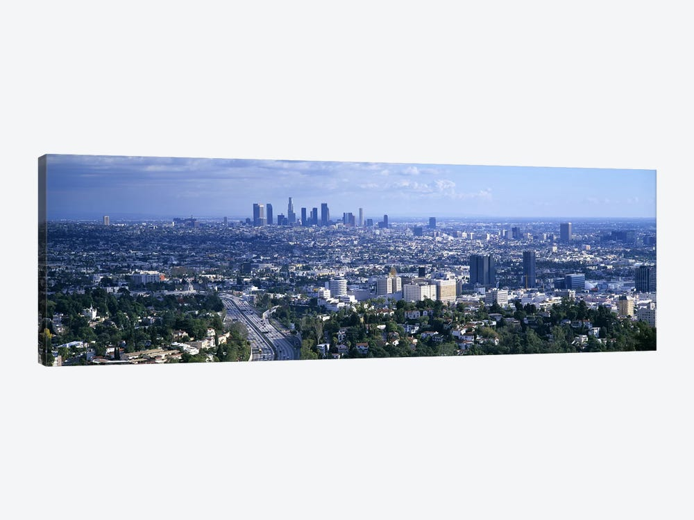 Aerial view of a city, Los Angeles, California, USA by Panoramic Images 1-piece Art Print