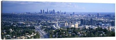 Aerial view of a city, Los Angeles, California, USA Canvas Art Print