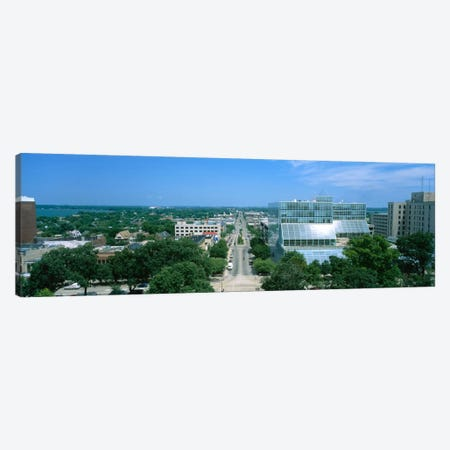 High Angle View Of A City, E. Washington Ave, Madison, Wisconsin, USA Canvas Print #PIM5256} by Panoramic Images Canvas Artwork