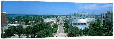 High Angle View Of A City, E. Washington Ave, Madison, Wisconsin, USA Canvas Print #PIM5256