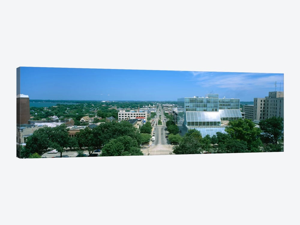 High Angle View Of A City, E. Washington Ave, Madison, Wisconsin, USA by Panoramic Images 1-piece Canvas Art