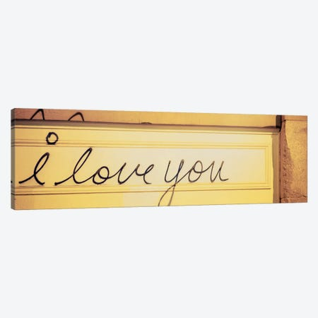Close-up of I love you written on a wall Canvas Print #PIM5259} by Panoramic Images Art Print