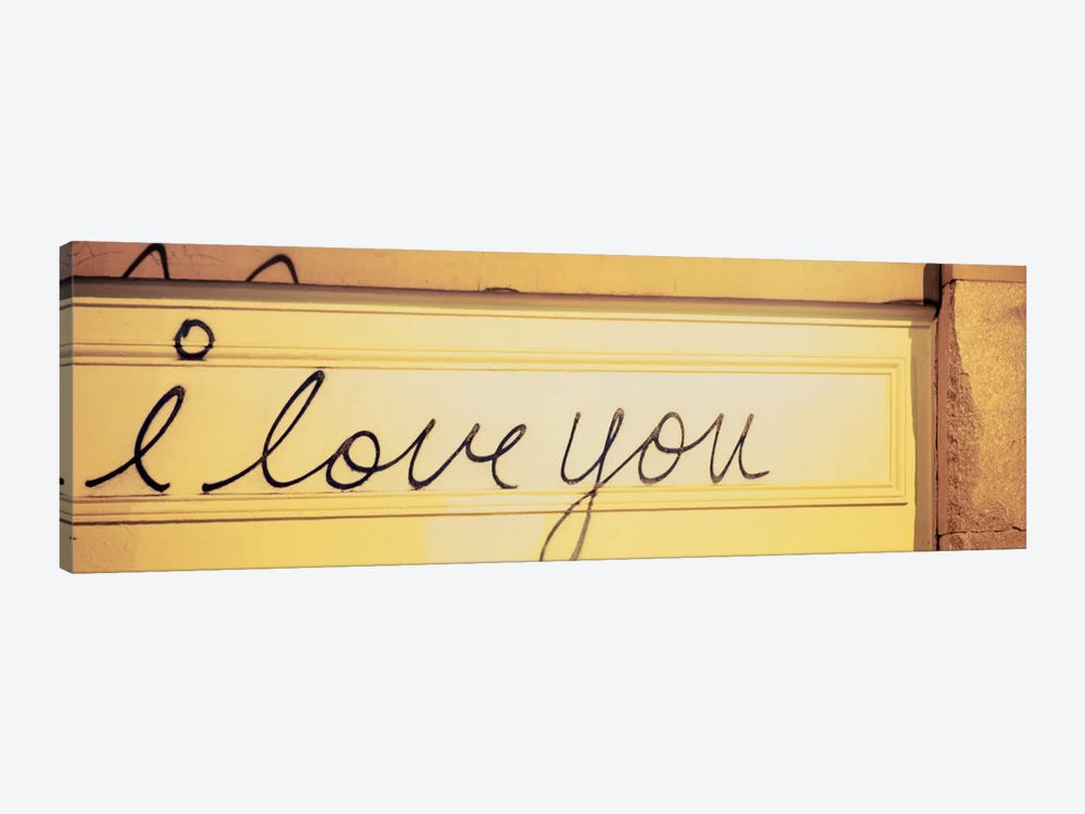 Close-up of I love you written on a wall by Panoramic Images 1-piece Art Print