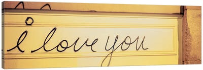 Close-up of I love you written on a wall Canvas Art Print