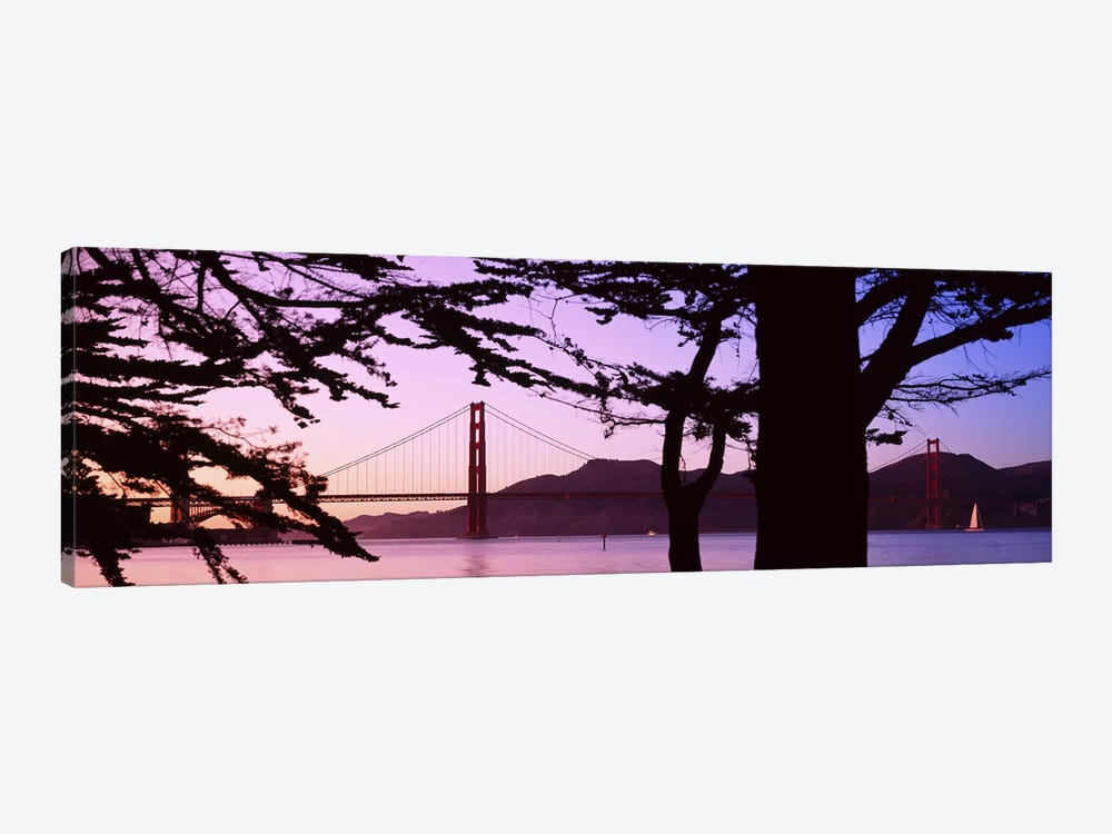 Suspension Bridge Over Water, Golden Gate Bridge, San Francisco, California, USA by Panoramic Images 1-piece Canvas Artwork