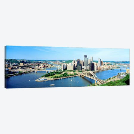 Daytime Skyline, Pittsburgh, Pennsylvania, USA Canvas Print #PIM52} by Panoramic Images Art Print