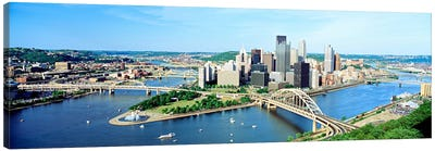 Daytime Skyline, Pittsburgh, Pennsylvania, USA Canvas Art Print
