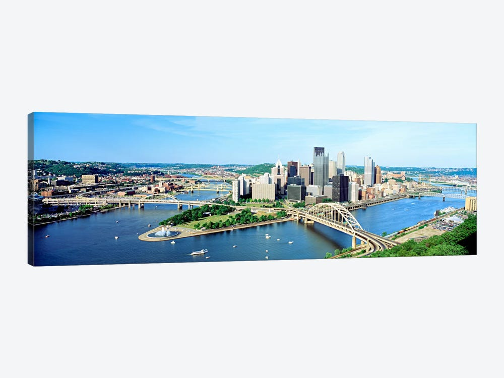 Daytime Skyline, Pittsburgh, Pennsylvania, USA by Panoramic Images 1-piece Art Print