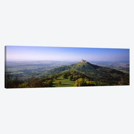 Distant Aerial View Of Burg Hohenzollern, Baden-Wurttemberg, Germany Canvas Print #PIM5300} by Panoramic Images Art Print