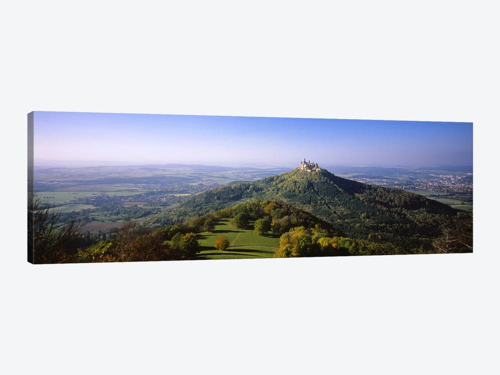 Distant Aerial View Of Burg Hohenzollern, Baden-Wurttemberg, Germany by Panoramic Images 1-piece Canvas Artwork