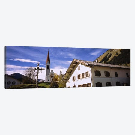 Low Angle View Of A Church, Holzgau, Lechtal, Austria Canvas Print #PIM5302} by Panoramic Images Canvas Art Print