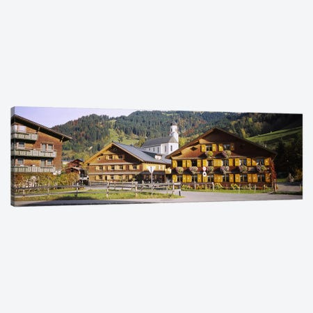 Church In A Village, Bregenzerwald, Vorarlberg, Austria Canvas Print #PIM5304} by Panoramic Images Canvas Wall Art