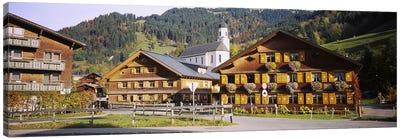 Church In A Village, Bregenzerwald, Vorarlberg, Austria Canvas Art Print