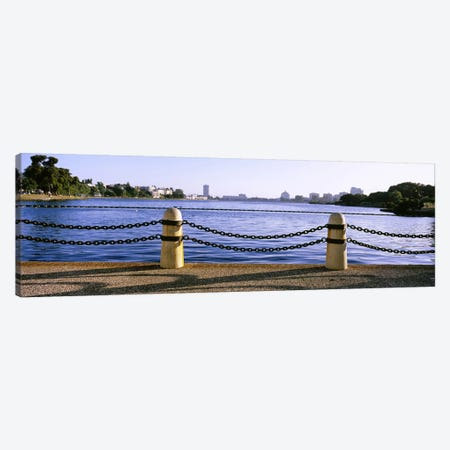 Lake In A City, Lake Merritt, Oakland, California, USA Canvas Print #PIM5306} by Panoramic Images Canvas Wall Art