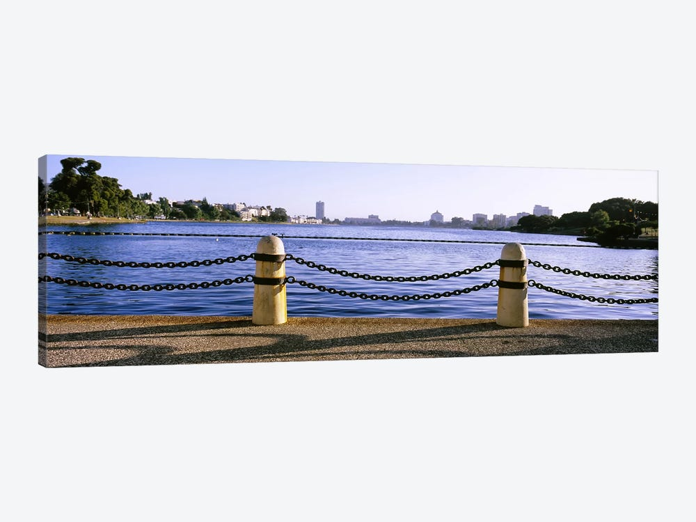 Lake In A City, Lake Merritt, Oakland, California, USA by Panoramic Images 1-piece Canvas Artwork