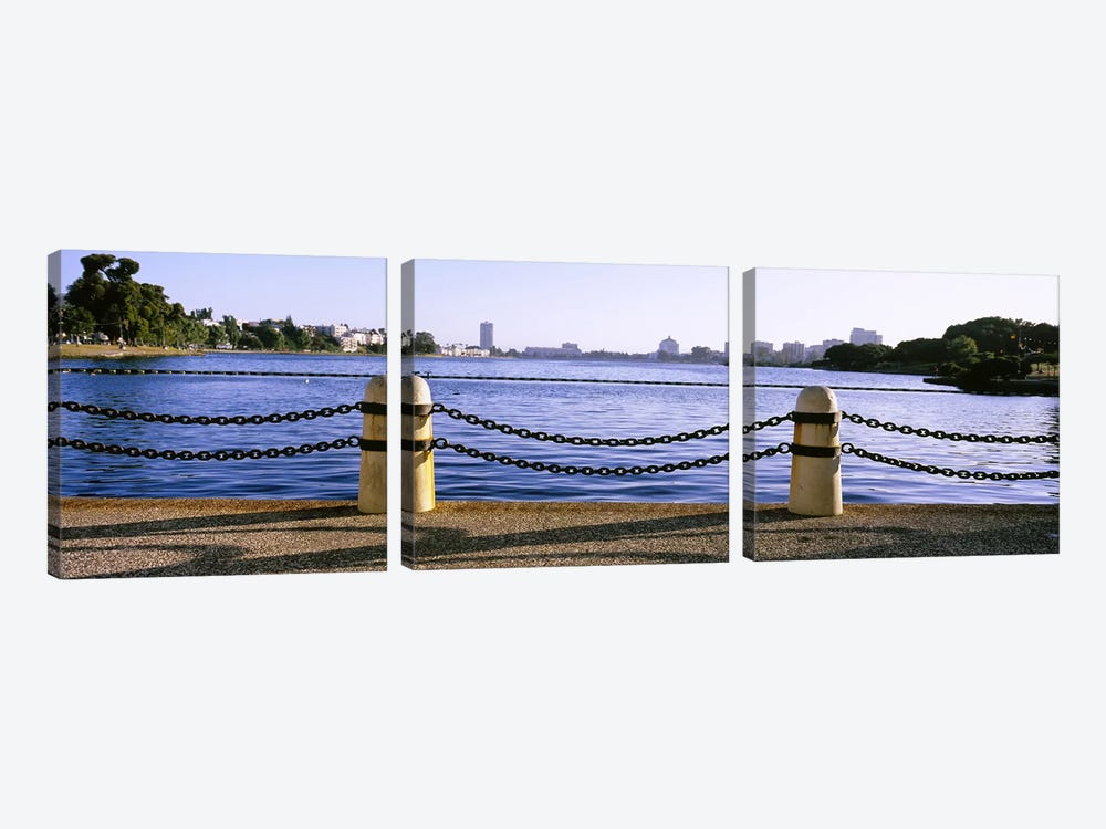 Lake In A City, Lake Merritt, Oakland, California, USA by Panoramic Images 3-piece Canvas Art