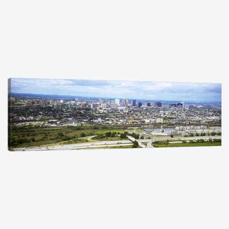 Aerial view of a city, Newark, New Jersey, USA Canvas Print #PIM5307} by Panoramic Images Canvas Wall Art