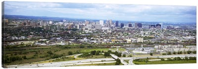 Aerial view of a city, Newark, New Jersey, USA Canvas Art Print